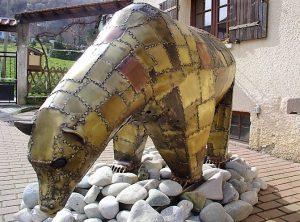 Ours, sculpture de Roland Issenlor